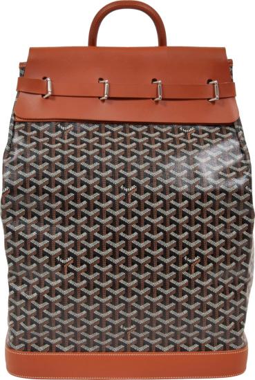 Goyard Black And Brown Steamer Bag