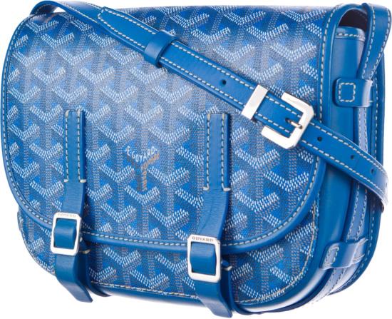 Goyard Blue Belvedere Pm Messenger Bag