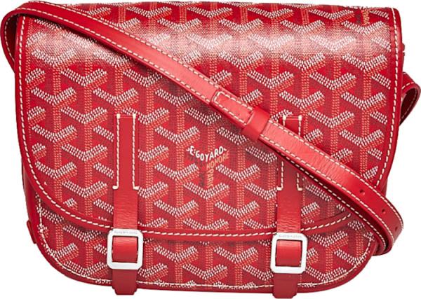 Goyard Red Belvedere Monogram Canvas Messenger Bag