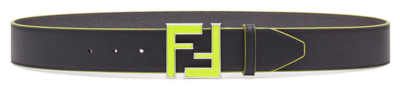 Green Logo Fendi Belt