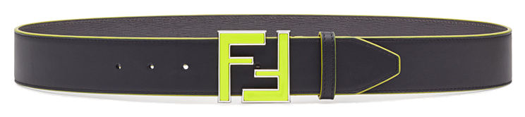 Green Logo Fendi Belt