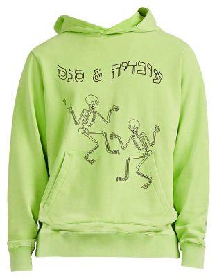 Green Skeleton Hoodie Worn By Meek Mill