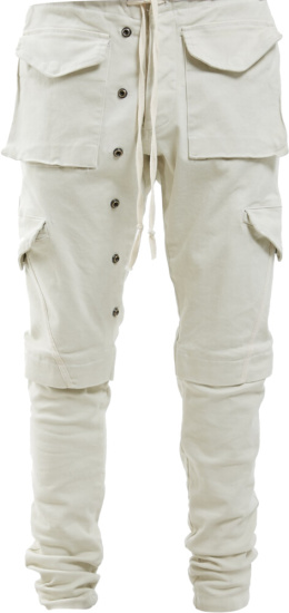Greg Lauren Ivory Cargo Pants
