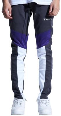 Grey Purple And White Karter Track Pants Worn By Joyner Lucas