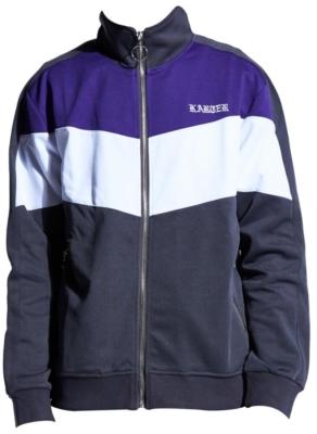 Grey Purple And White Track Jacket Worn By Joyner Lucas