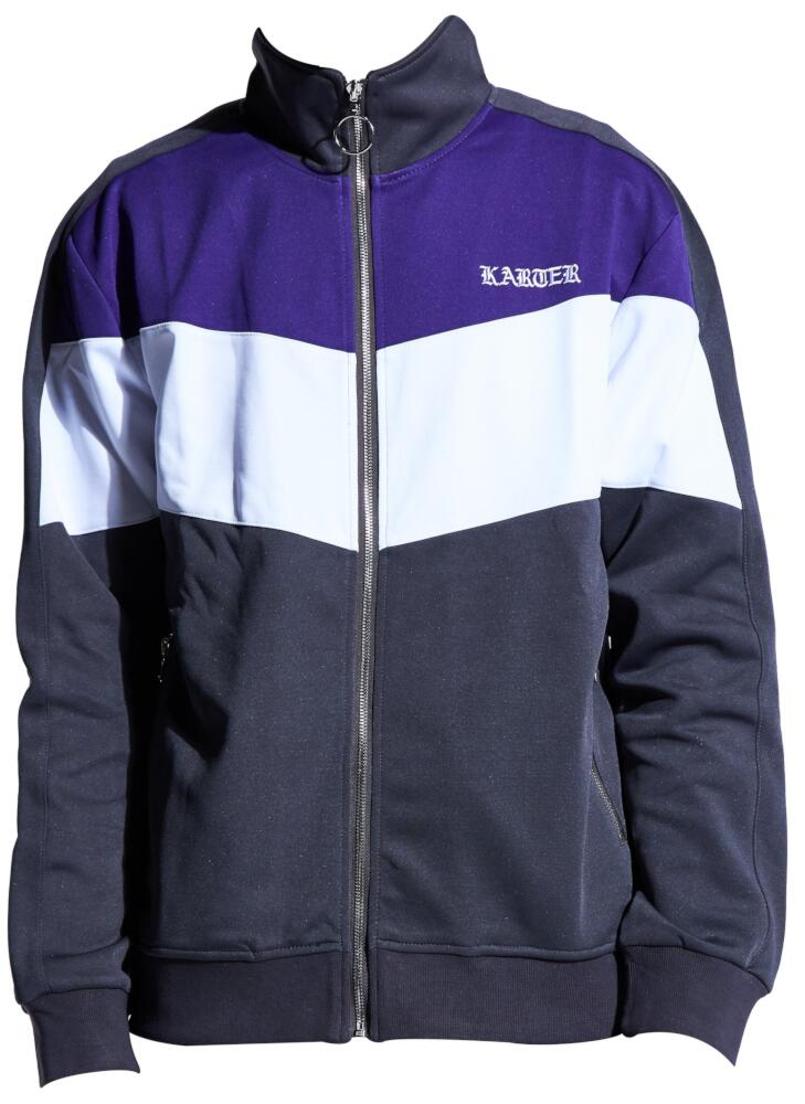 Grey Purple And White Track Jacket Worn By Joyner Lucas