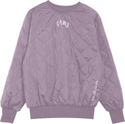 Grimey Purple Quilted Sweatshirt