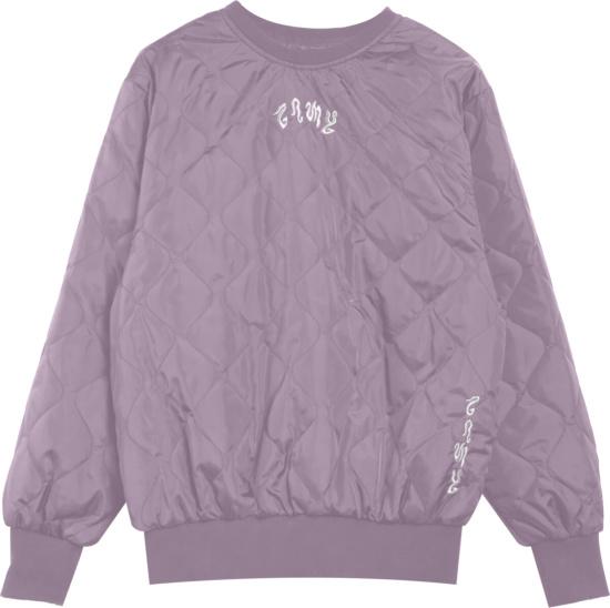 Grimey Purple Quilted Sweatshirt