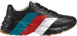 Black & Web-Stripe Print 'Rhyton' Sneakers