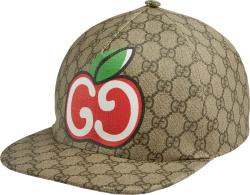 Beige Canvas Apple-Logo Hat