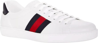 Gucci Blue & Red Stripe 'ace' Sneakers