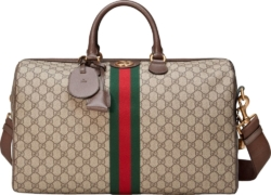 Gucci Gg Canvas Beige Duffle Bag