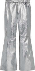 Metallic Silver Flared Pants