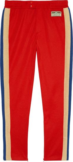 Gucci Red Technical Jogging Pants