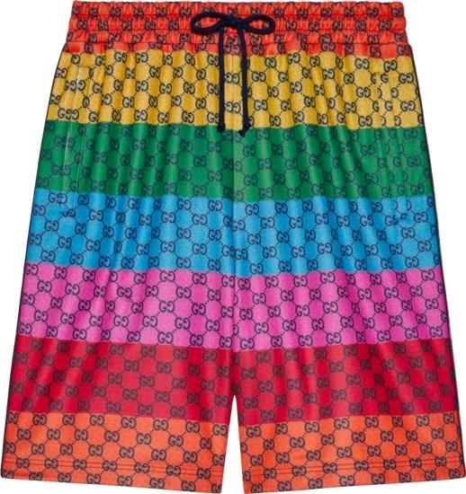 Gucci Striped Multicolor Gg Shorts 661176xjdlp4206