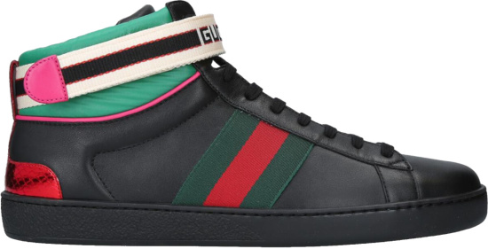 Gucci Ace Black High Tops