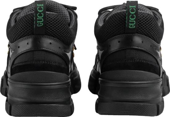 Gucci All Black Flash Trek Sneakers