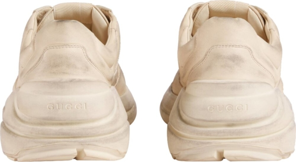 Gucci All White Rhyton Sneakers