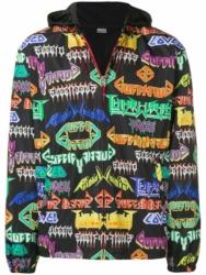 Gucci Allover Logo Print Black Jacket
