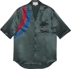 'Gucci Band' Grey Bowling Shirt