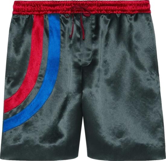 Gucci Band Grey Acetate Shorts
