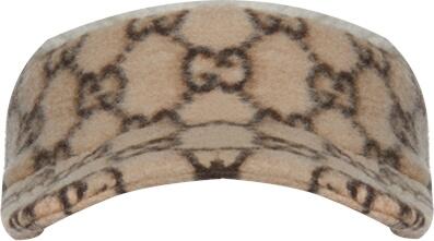 'GG' Monogram Beige Wool Visor