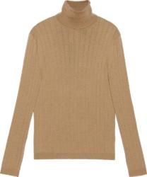 Gucci Beige Fine Wool Turtleneck Sweater