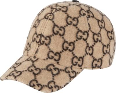 Gucci Beige Gg Wool Hat