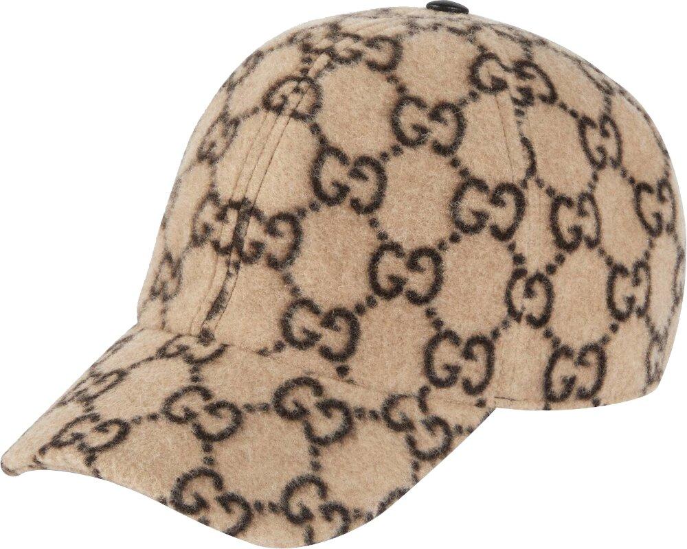 'GG' Monogram Beige Wool Hat