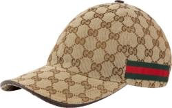 Gucci Beige Monogram Canvas Hat