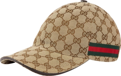 Gucci Beige Monogram Canvas Hat