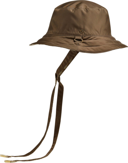 Gucci Beige Reversible Nylon Bucket Hat