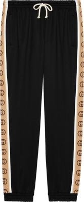 Gucci Beige Side Stripe Black Joggers