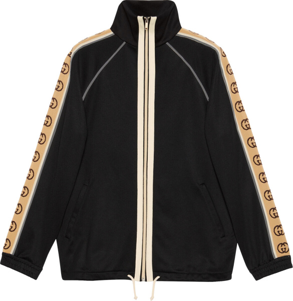 Gucci Beige Side Stripe Black Track Jacket
