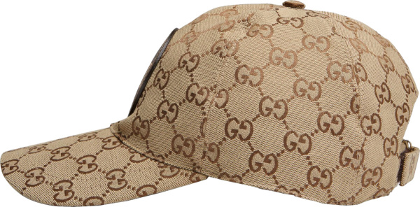 Gucci Beige Supreme Canvas Hat