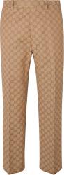 Gucci Beige Supreme Print Pants