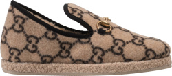 Gucci Beige Wool Fria Loafers