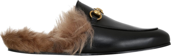 Gucci Blace Princetown Slippers 397647 Dkhh0 1063