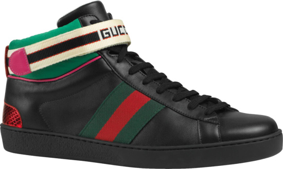 Gucci Black Ace High Top Sneakers