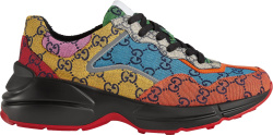 Gucci Black And Multicolor Gg Rhyton Sneakers 6636592uzk07072