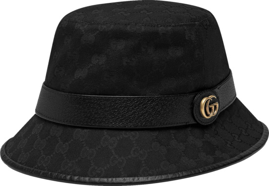 Gucci Black Canvas Off The Grid Bucket Hat