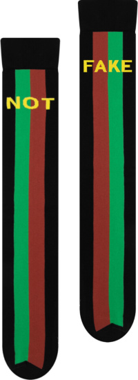 Gucci Black Fake Not Striped Socks