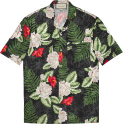 Gucci Black Floral Hawaiian Shirt 624524zaemq1030