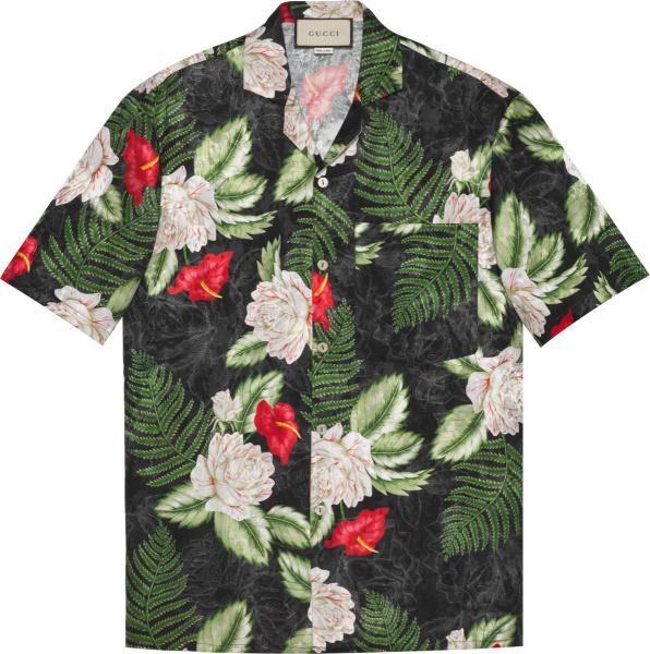 Gucci Black Floral Hawaiian Shirt 624524zaemq1030