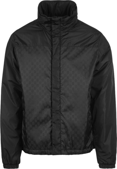 Gucci Black Gg Padded Windbreaker Jacket
