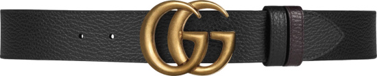 Gucci Black Gold Tone Gg Belt 474350 Cao2t 1062