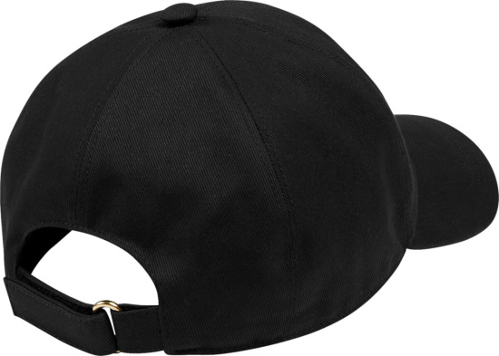 Gucci Black Hat With Red Logo Patch