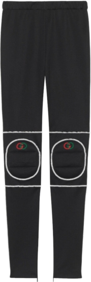 Gucci Black Knee Pad Leggings