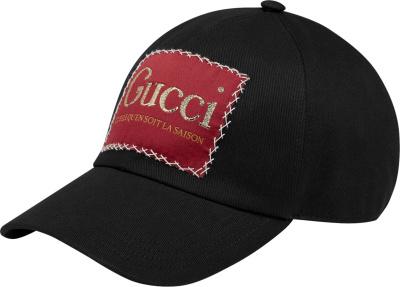 Gucci Black La Saison Patch Hat