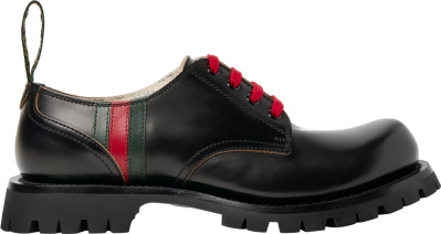 Gucci Black Leather Chunky Sole Shoes